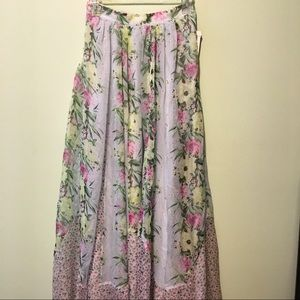 FCUK Floral Maxi Skirt